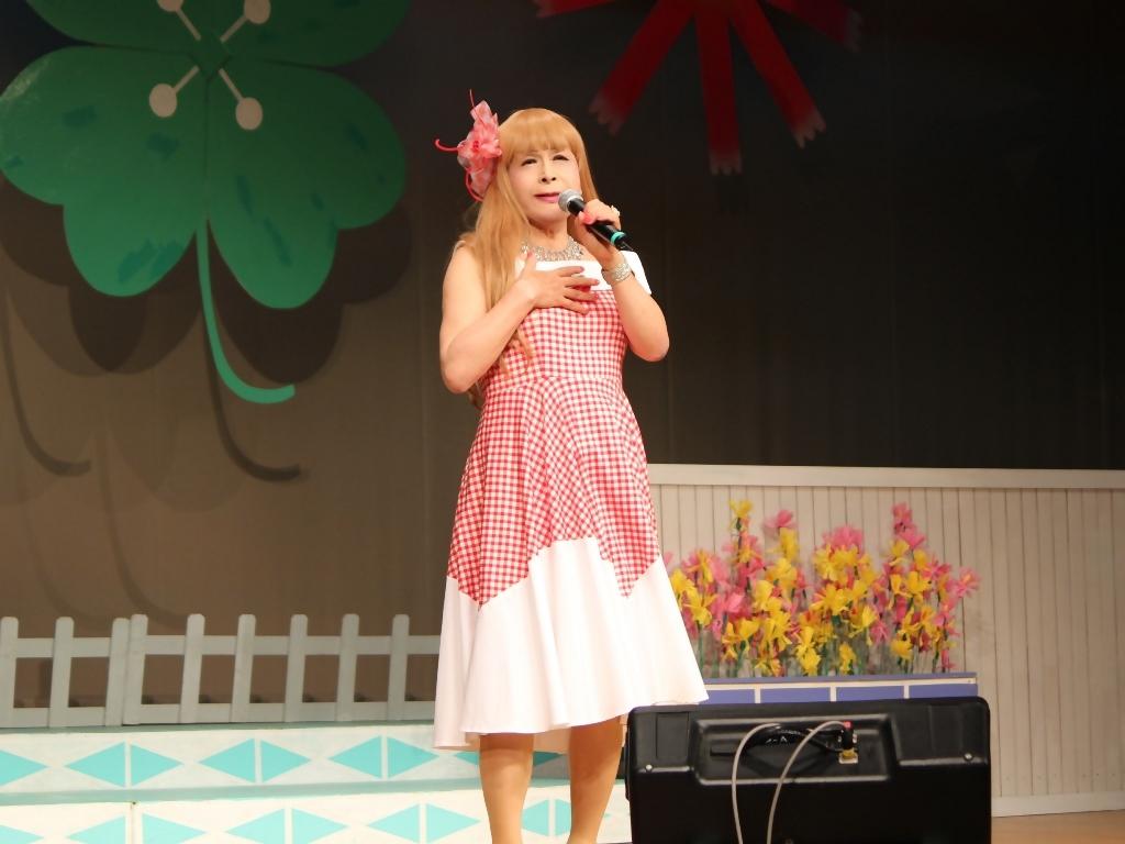赤白格子柄舞台ドレス横画像(6)
