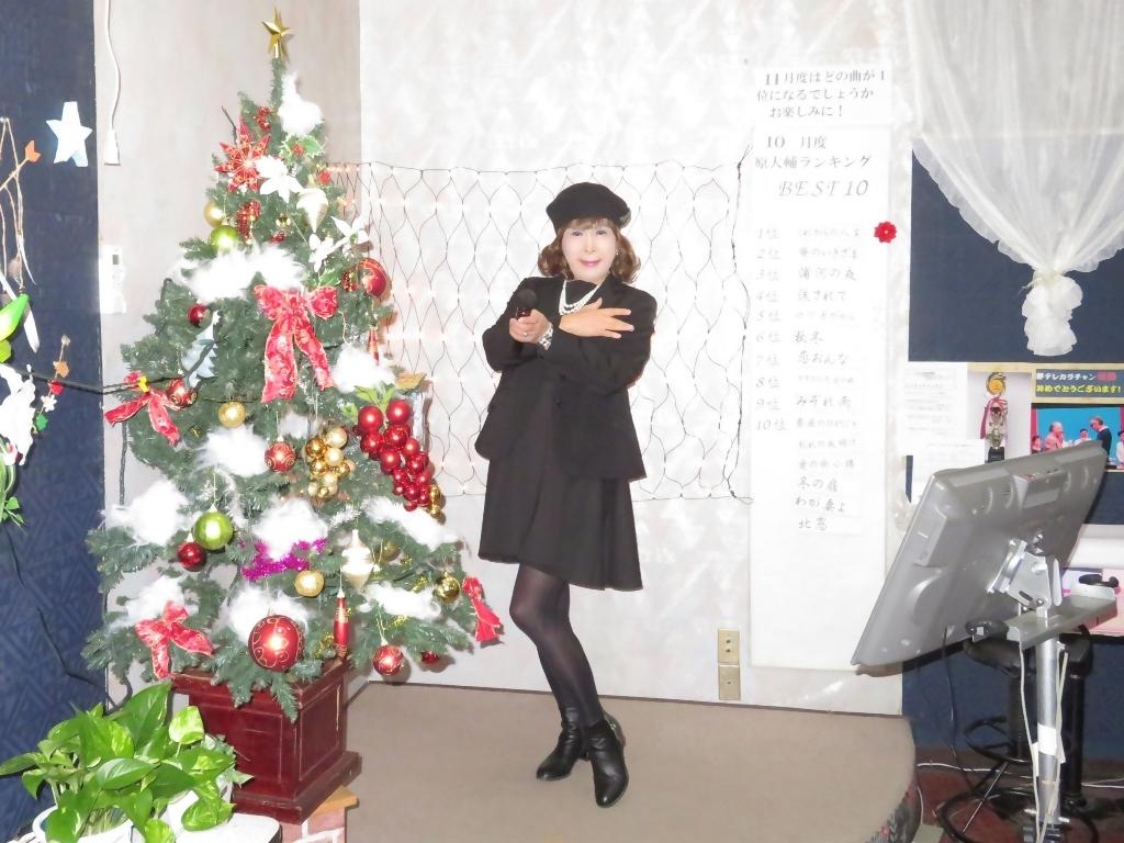 黒ワンピ黒ジャケットカラオケA(2)