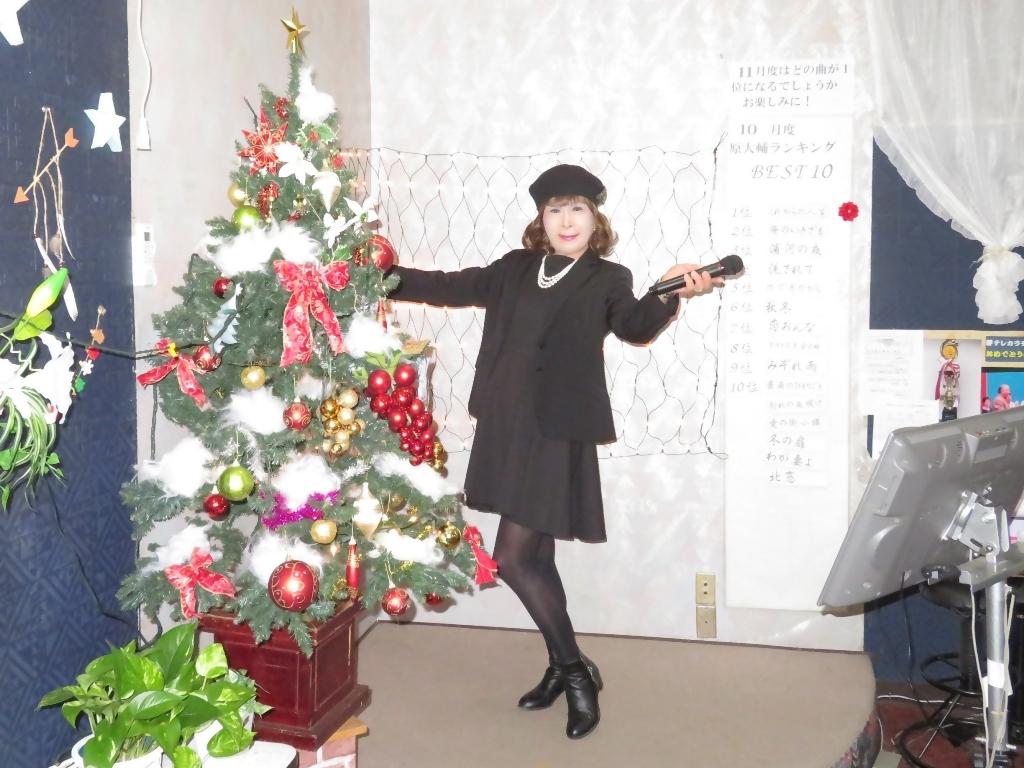 黒ワンピ黒ジャケットカラオケA(4)