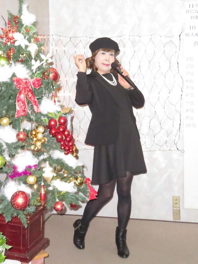 黒ワンピ黒ジャケットカラオケB(1)