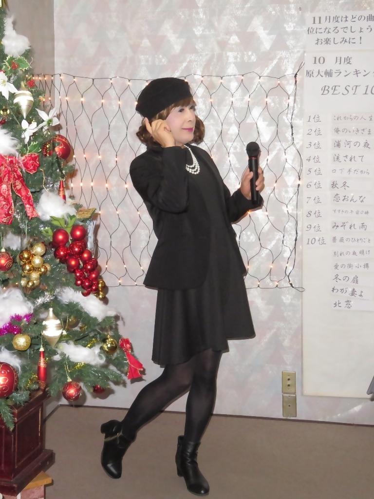 黒ワンピ黒ジャケットカラオケB(4)