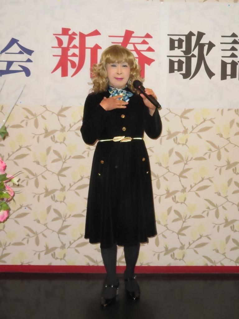 黒ベルベットワンピカラオケA(1)