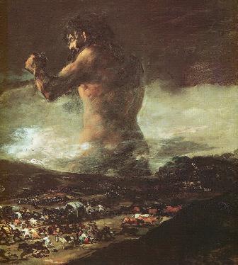 ゴヤ「巨人」(1810年 )マドリード、プラド美術館蔵