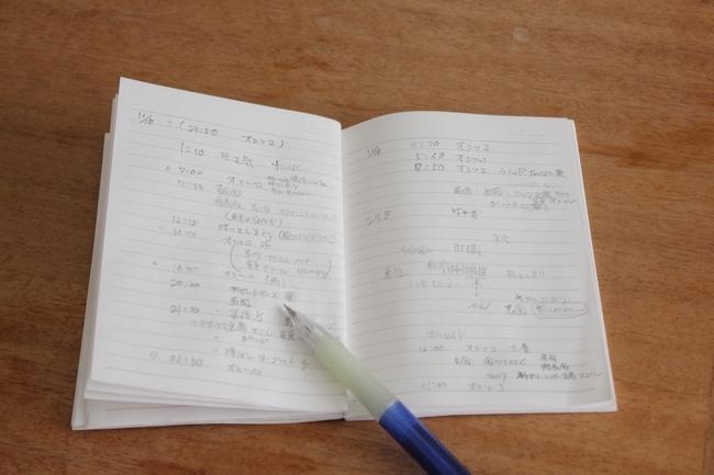 日光浴と手帳 017