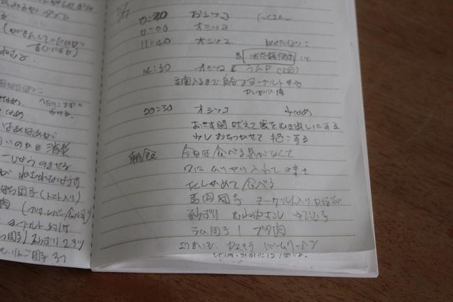 日光浴と手帳 019
