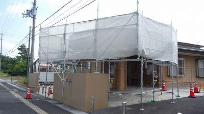 水戸診療所足場組み