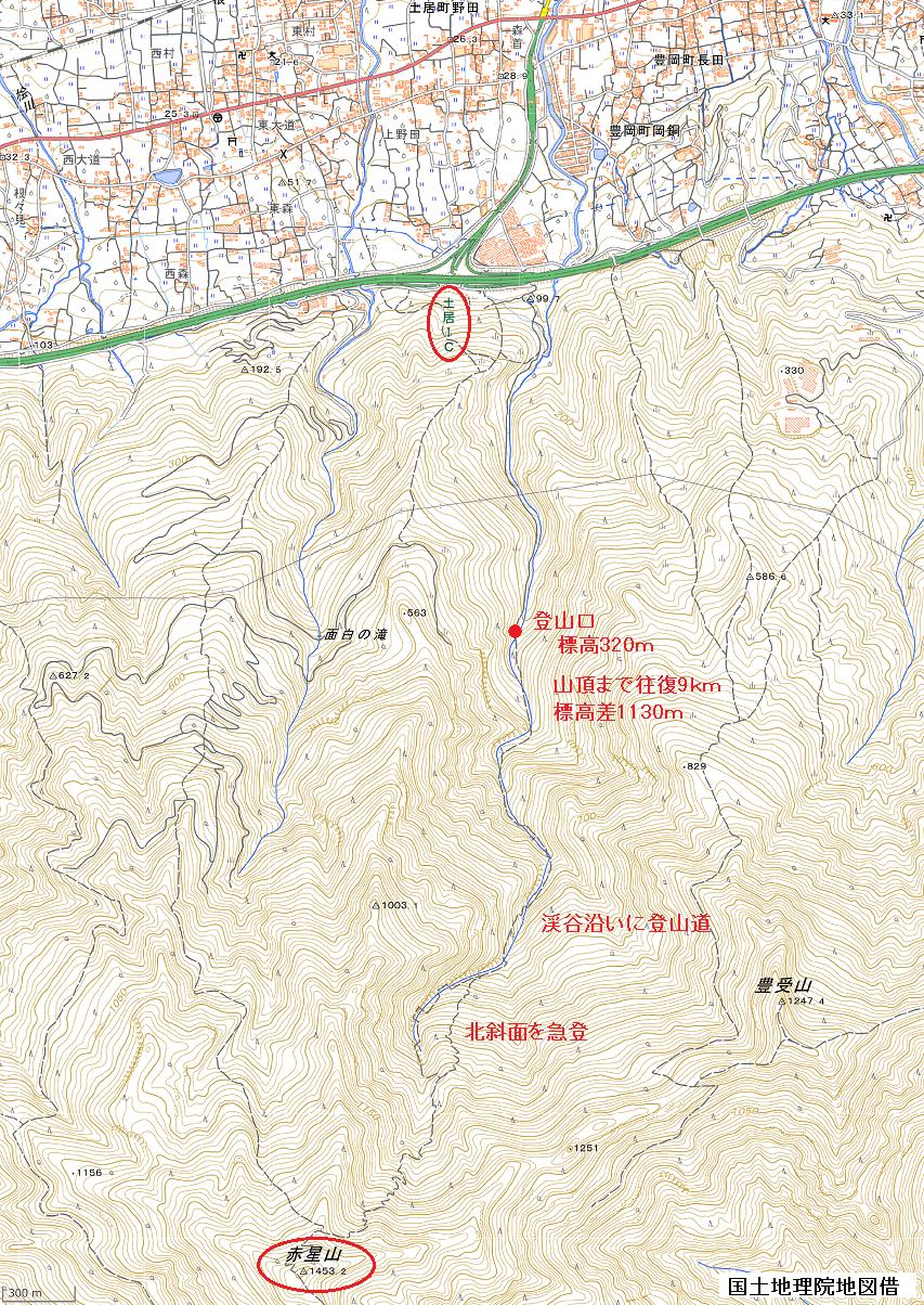 赤星山登山ルート