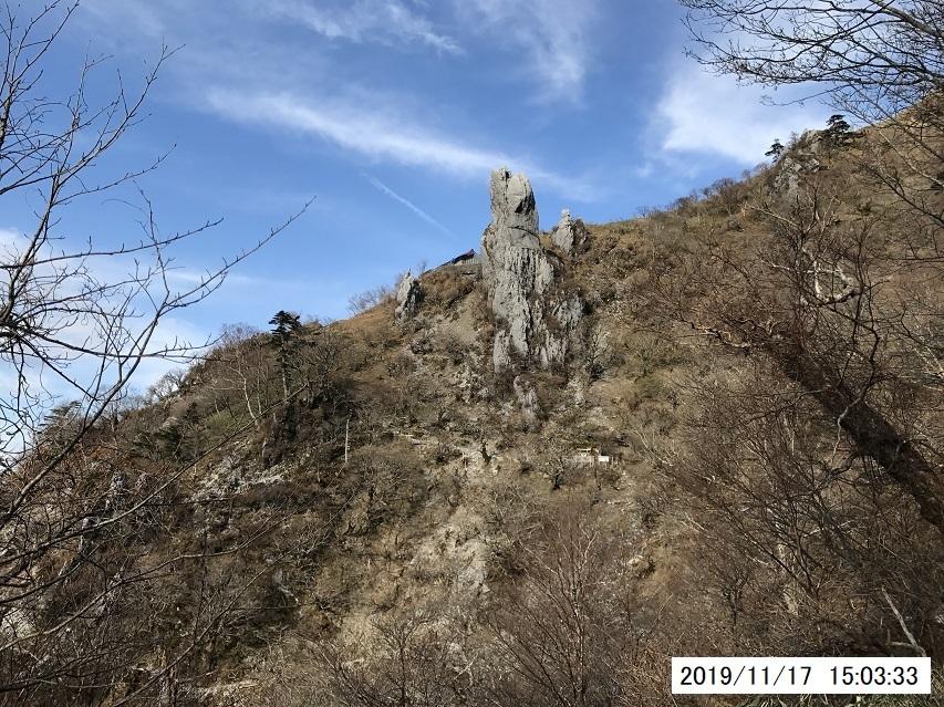 11月17日の剣山登山
