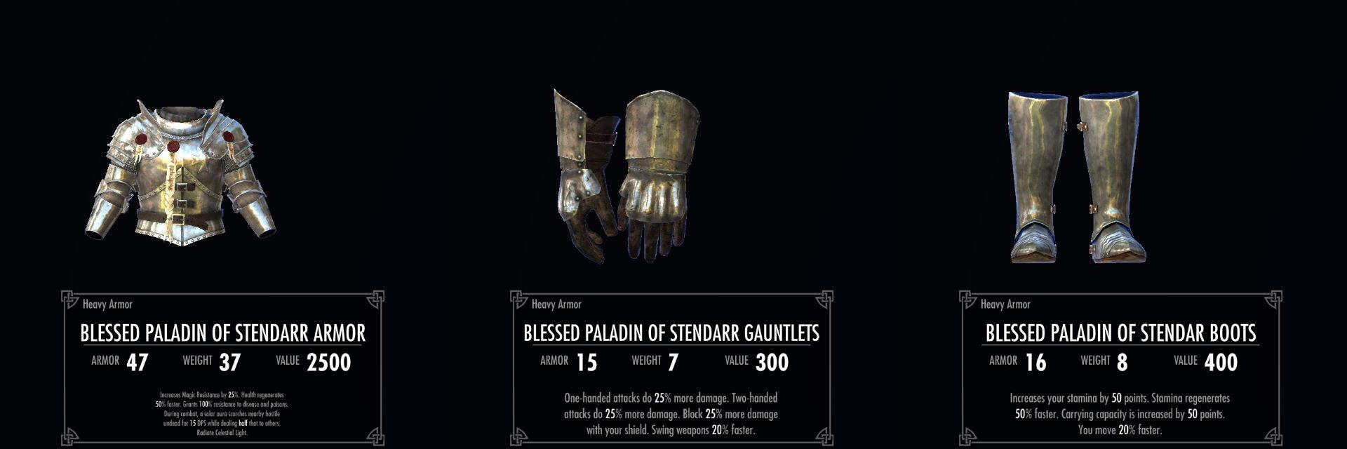 Skyrim SE: Mod紹介 - Stendarr Paladin Armor Set - 防具 紹介