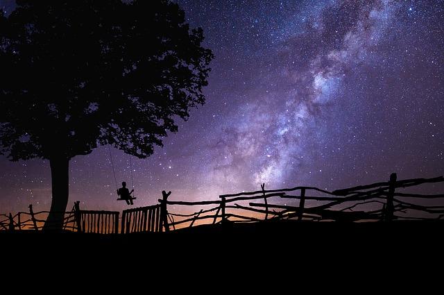 フリー画像・星空