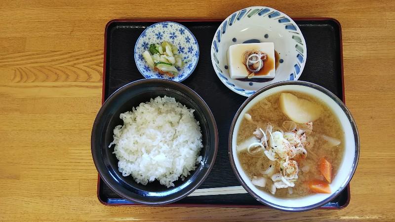 道の駅加治川豚汁定食201907