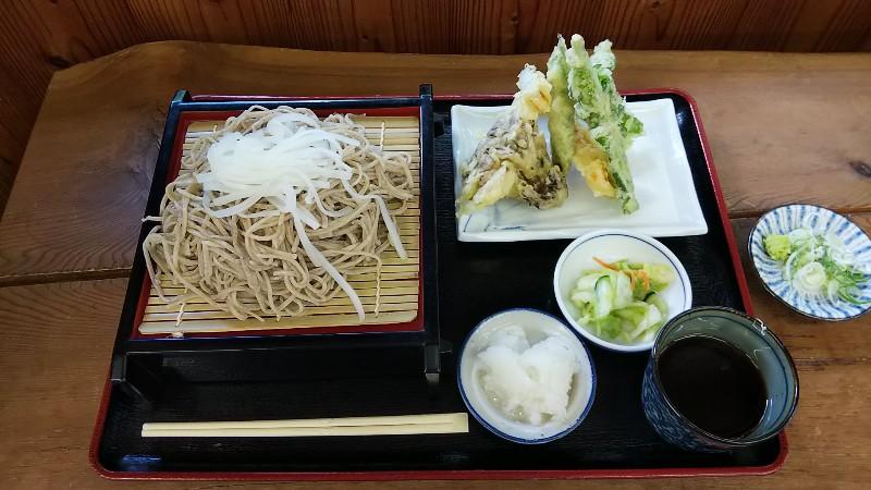 道の駅六合浅間そば天ぷら201909