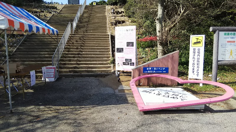 道の駅とぎ海街道世界一のベンチ入口2019