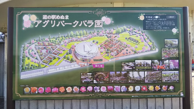 道の駅めぬま案内図201911