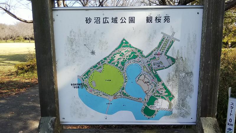 砂沼広域公園観桜苑案内図2019