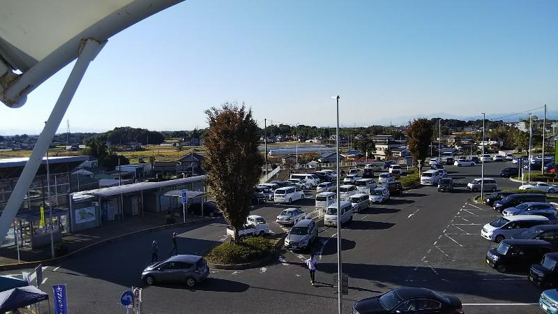 道の駅きたかわべ駐車場201911