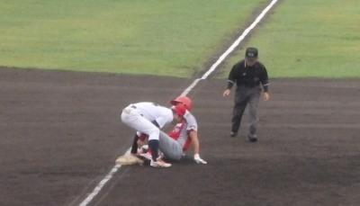 トウヤA4回表無死二塁から5番の遊ゴロで二走が三塁で刺される どちらにとっても大きなプレーだった