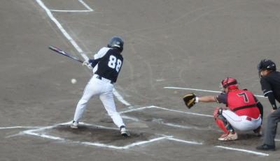 P8051188 労働局 1回裏無死一塁から2番は遊ゴロEで一、二塁