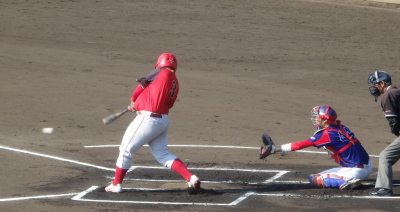 PC154024ハウスプラン熊本1回表2死二塁から4番が左前打を放ち1点先制