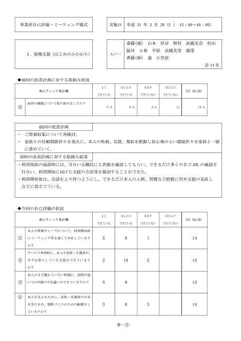 平成30年度ステラ新琴似サービス評価 -02