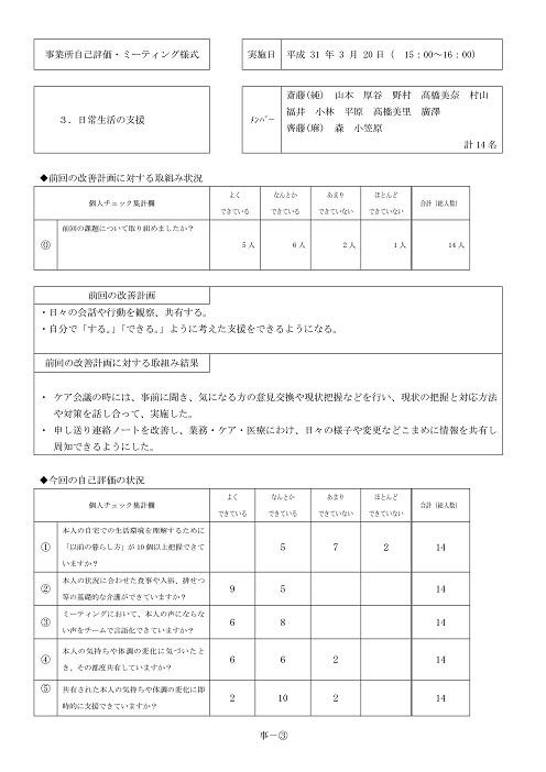 平成30年度ステラ新琴似サービス評価 -06