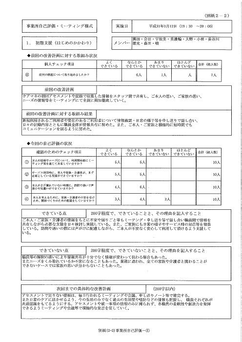H31①ステラ東苗穂サービス評価①