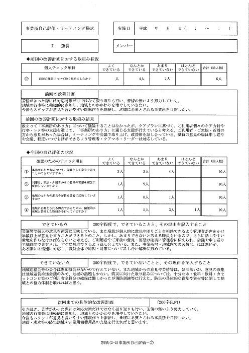 H31⑦ステラ東苗穂サービス評価