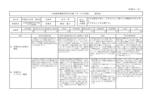 H30年度 外部評価① 総括表