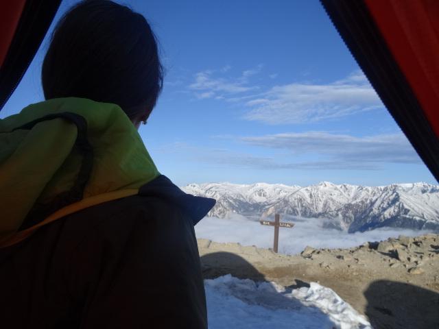 燕岳残雪期13