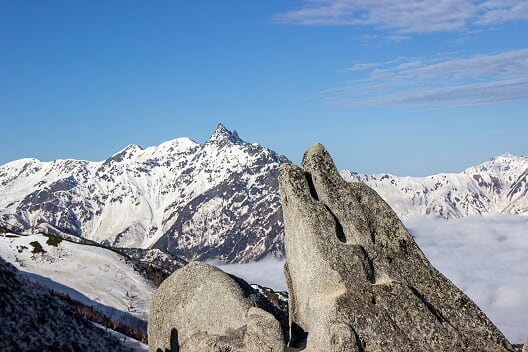 燕岳残雪期21