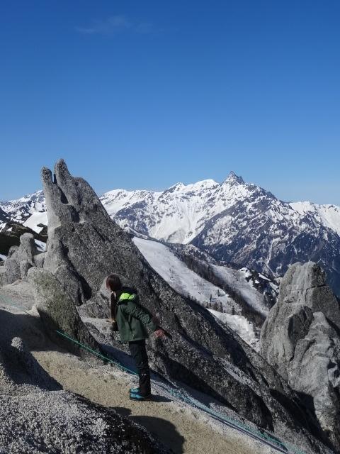 燕岳残雪期22