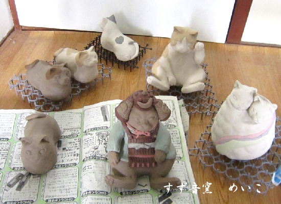 もえぎの第22回平成の招き猫展