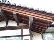 玄関の木部の塗装