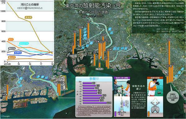 東京湾の放射能汚染『東京新聞』