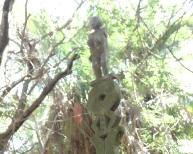 マダガスカルの公園の石造(女子)