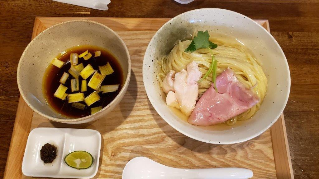 味噌らーめん専門店 柿田川ひばり 東京しゃもの鰹昆布水醤油つけ麺