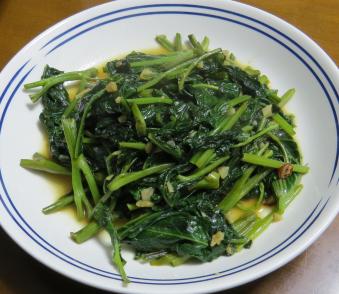 アサガオ菜炒め物