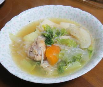 ハクラン入りスープ