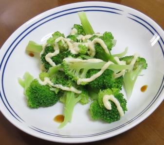 ブロッコリーサラダ夕食用