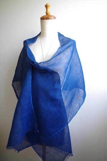 藍リネン肩