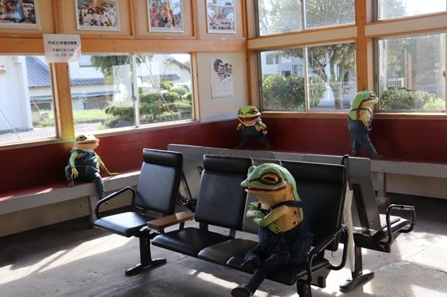 ③待合室のカエル