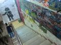 ブルガーゴフの家博物館(奥側)の階段落書き