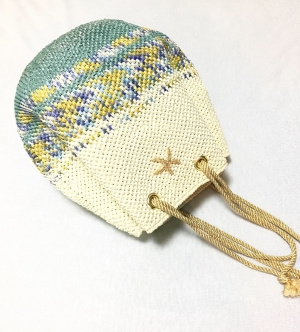 ボーダーグラデの巾着バッグ2 (2)