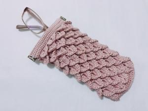 クロコダイル編みのバネ口ケース②