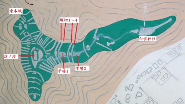 姫野々城/縄張り図