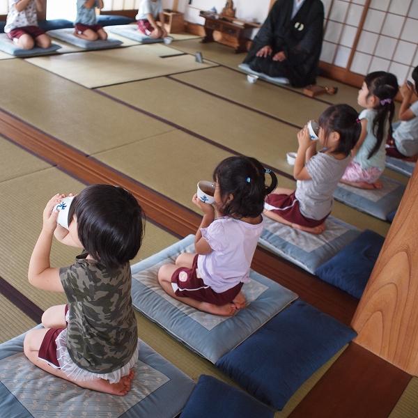 500坐禅体験 茶礼練習
