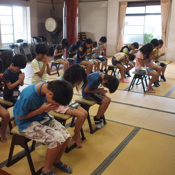 500子供坐禅研修会190820 2