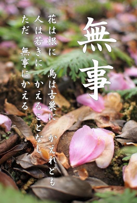 500写経会 絵葉書作成ファイル 66 禅語 無事