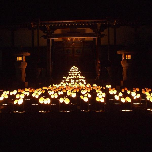600竹灯り 開催報告19123109
