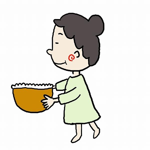 600食べ物を運ぶ女性 (1)